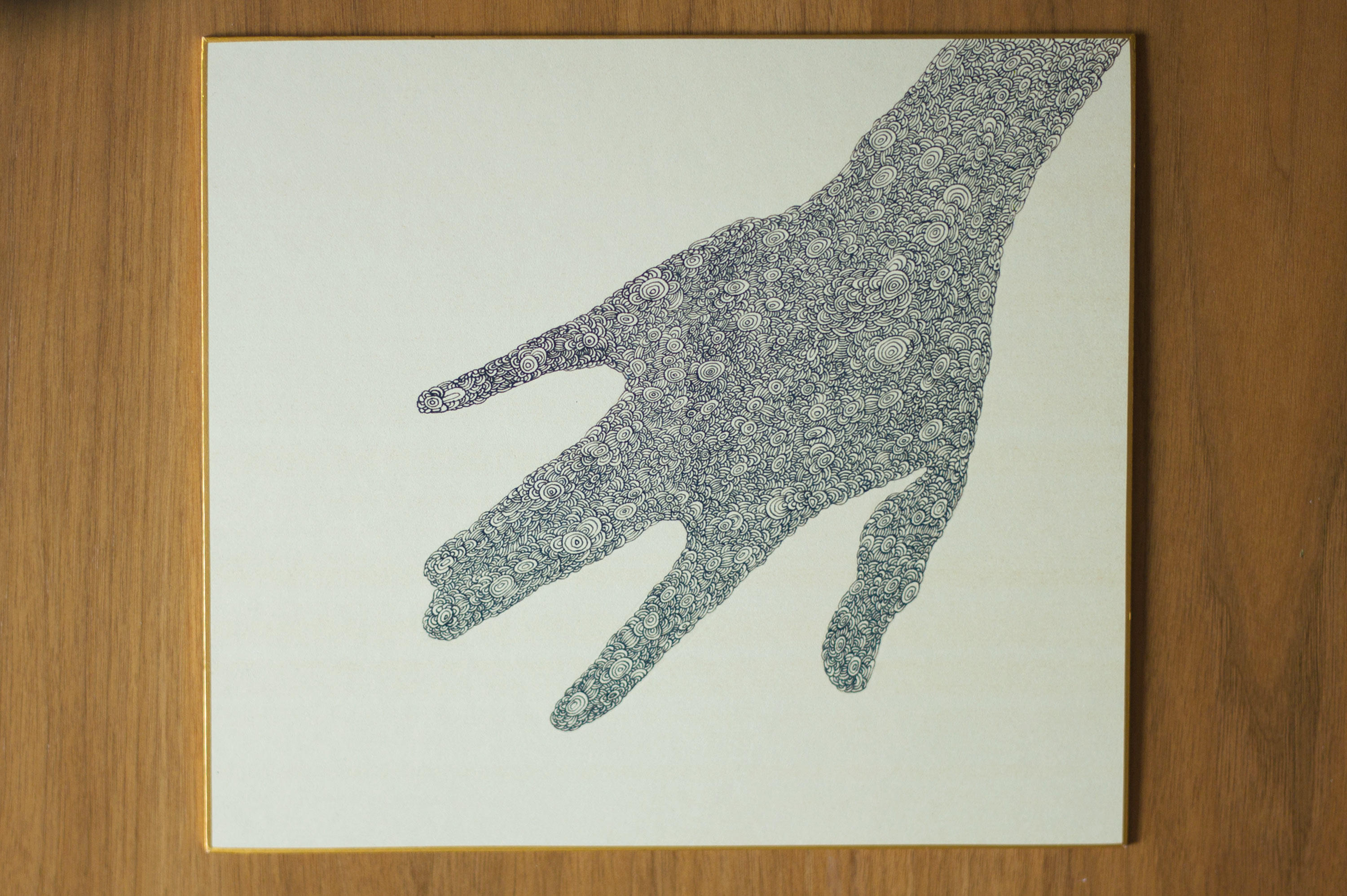 Hand Two (Ink on Shikishi Paper, 27cm x 24cm)